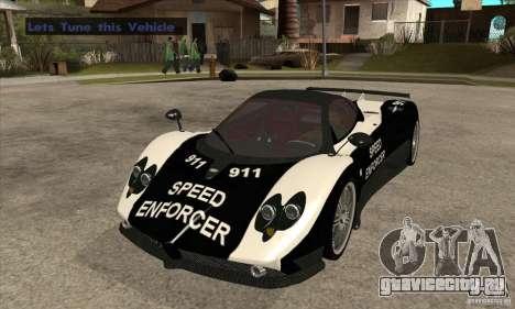 Pagani Zonda F Speed Enforcer BETA для GTA San Andreas