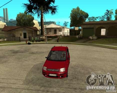 2004 Fiat Panda v.2 для GTA San Andreas вид сзади