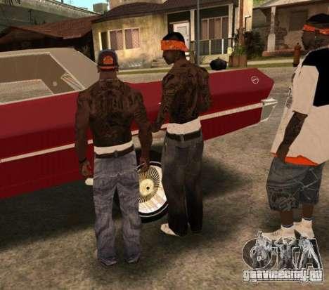 Замена банд, татуировок, одежды и т.п. для GTA San Andreas девятый скриншот