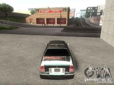 Lincoln Town car sedan для GTA San Andreas вид справа