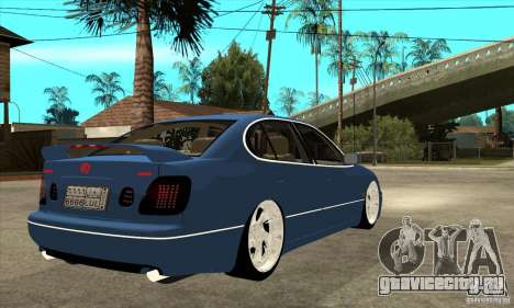 Lexus GS300 V 2003 для GTA San Andreas вид сзади
