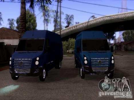 Volkswagen Crafter XL для GTA San Andreas вид сзади