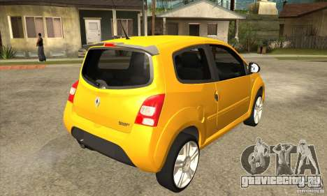 Renault Twingo RS 2009 для GTA San Andreas вид справа