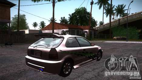 Honda Civic Tuneable для GTA San Andreas
