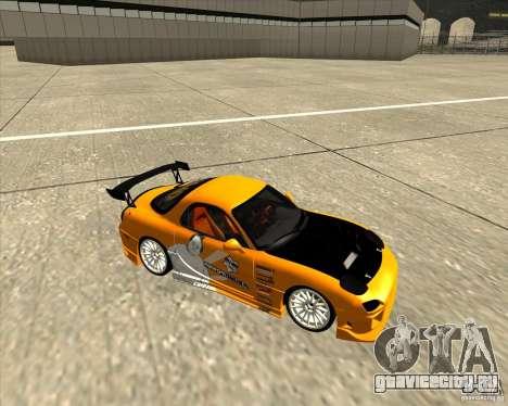 Mazda RX-7 sumopoDRIFT для GTA San Andreas вид сзади
