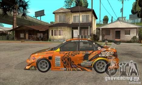Subaru Impreza D1 WRX Yukes Team Orange для GTA San Andreas вид слева