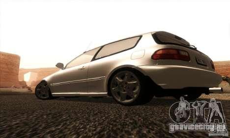 Honda Civic VTI 1994 для GTA San Andreas вид сзади слева