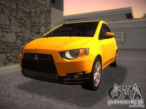 Mitsubishi Colt Rallyart для GTA San Andreas вид сзади