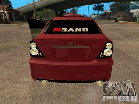 Toyota Camry 2005 TRD для GTA San Andreas вид сзади слева