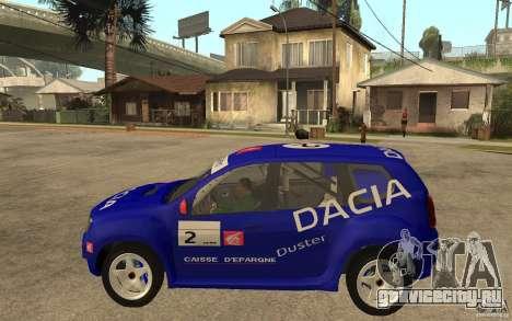 Dacia Duster Rally для GTA San Andreas вид слева