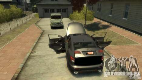 Lexus IS F для GTA 4 вид изнутри