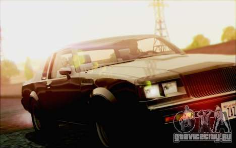 Buick GNX 1987 для GTA San Andreas вид снизу
