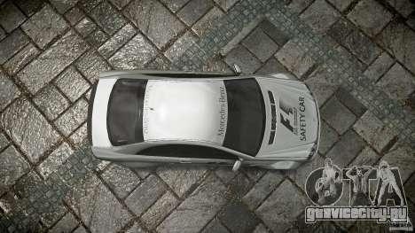 Mercedes Benz CLK63 AMG Black Series 2007 для GTA 4 вид сверху