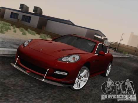 Porsche Panamera Turbo 2010 для GTA San Andreas вид сзади