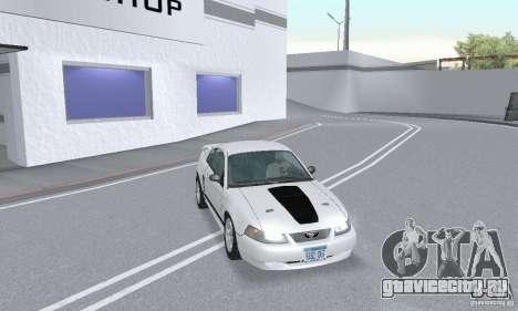 Ford Mustang GT 2003 для GTA San Andreas вид изнутри