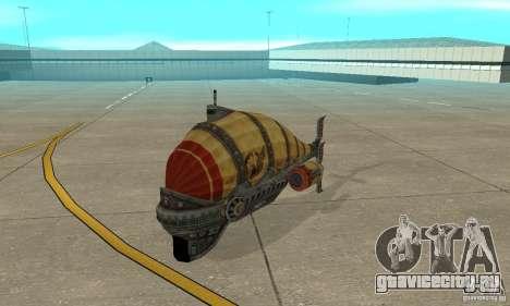 Дирижабль из TimeShift для GTA San Andreas вид слева