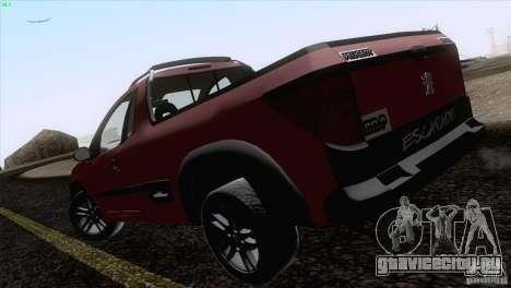 Peugeot Hoggar Escapade 2010 для GTA San Andreas вид сзади слева