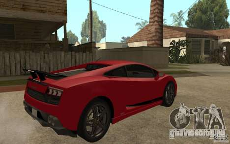 Lamborghini Gallardo LP 570 4 Superleggera для GTA San Andreas вид справа
