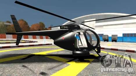 AH-6 LittleBird Helicopter для GTA 4 вид слева