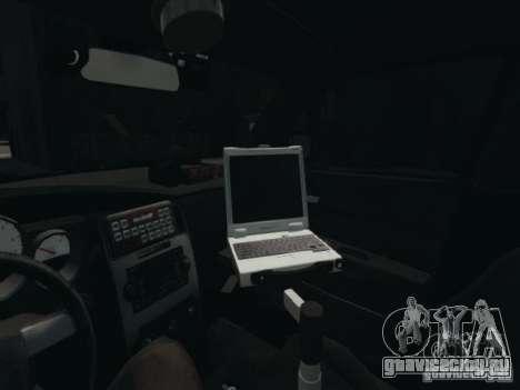 Dodge Charger Slicktop 2010 для GTA 4 вид изнутри