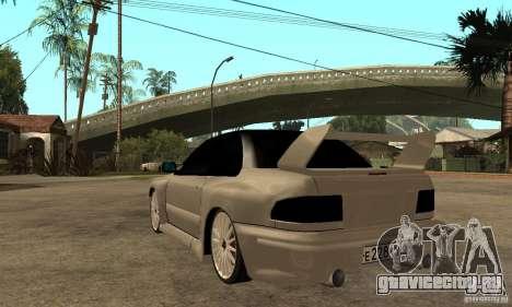 Subaru Impreza 22B STI Tuning для GTA San Andreas вид сзади слева
