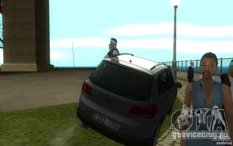 Volkswagen Tiguan 2012 для GTA San Andreas вид сзади