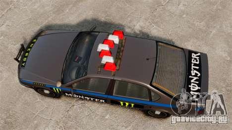 Полиция Monster Energy для GTA 4 вид сзади