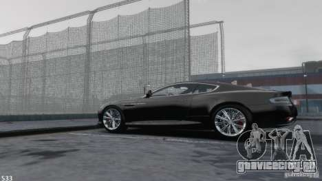 Aston Martin Virage 2012 v1.0 для GTA 4 вид сверху
