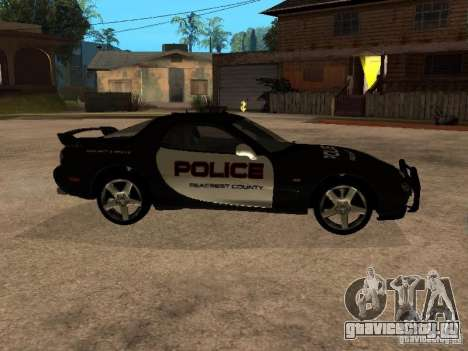 Mazda RX-7 Police для GTA San Andreas вид слева