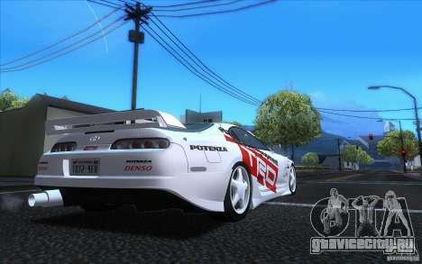 Toyota Supra RZ 1996 для GTA San Andreas вид изнутри