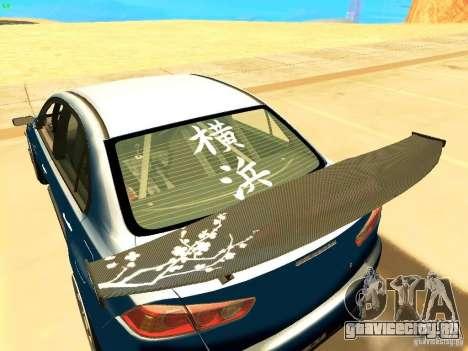 Mitsubishi Lancer Evolution X Time Attack для GTA San Andreas вид сзади слева