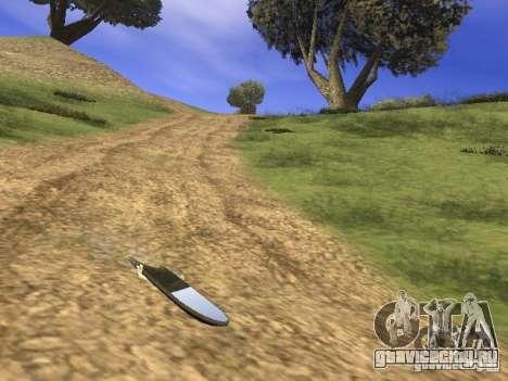 Аэроборд из фильма Назад в будущее 2 для GTA San Andreas вид сзади слева