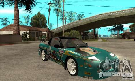 Nissan 200sx from Moscow Drift для GTA San Andreas вид сзади