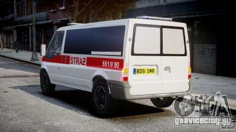 Ford Transit Polish Firetruck [ELS] для GTA 4 вид сзади слева