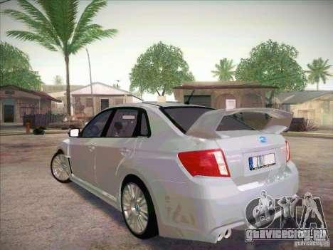 Subaru Impreza WRX STI 2011 Sedan для GTA San Andreas вид слева