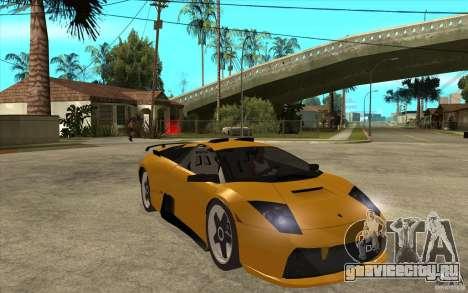 Lamborghini Murcielago для GTA San Andreas вид сзади