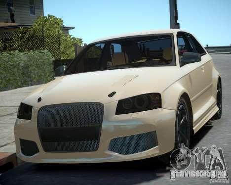 Audi S3 v2.0 для GTA 4 вид сзади слева