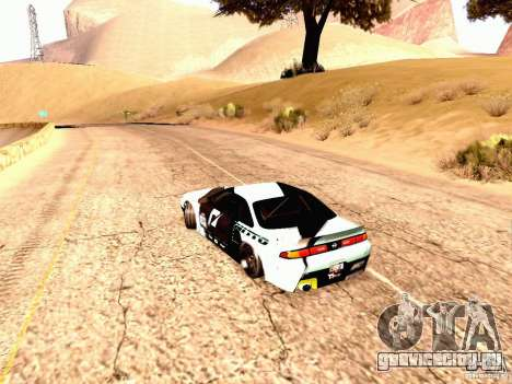 Nissan Silvia S14 Matt Powers 2012 для GTA San Andreas вид сзади слева