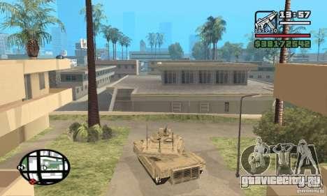 M1A2 Abrams TUSK для GTA San Andreas вид сзади слева