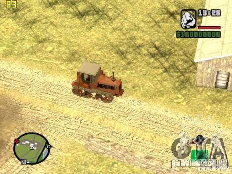 Трактор ДТ-75 Почтальон для GTA San Andreas вид сбоку