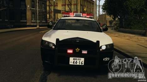 Dodge Charger Japanese Police [ELS] для GTA 4 вид изнутри