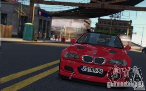 BMW M3 Street Version e46 для GTA 4 вид сзади