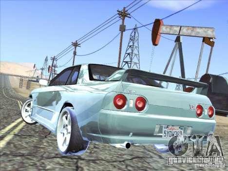 Nissan Skyline GT-R 32 1993 для GTA San Andreas вид изнутри