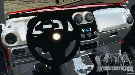 Chevrolet Agile для GTA 4 вид сзади