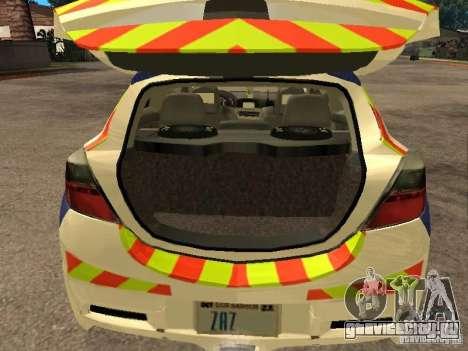 Opel Astra 2007 Police для GTA San Andreas вид сзади