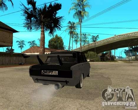 ВАЗ 2107 drift для GTA San Andreas вид сзади слева