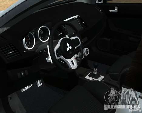 Mitsubishi Lancer Evolution X ППС Полиция для GTA San Andreas вид справа