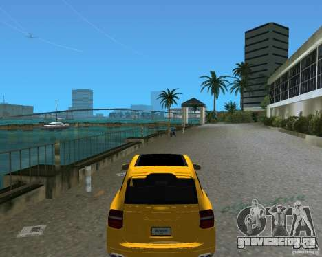 2009 Porsche Cayenne Turbo для GTA Vice City вид сзади слева