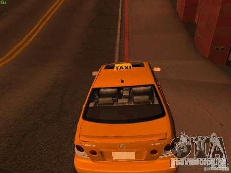 Lexus IS300 Taxi для GTA San Andreas вид сзади слева