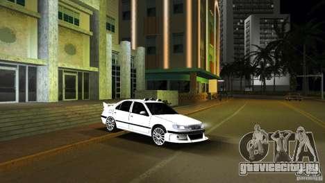 Peugeot 406 Taxi 2 для GTA Vice City вид сзади слева